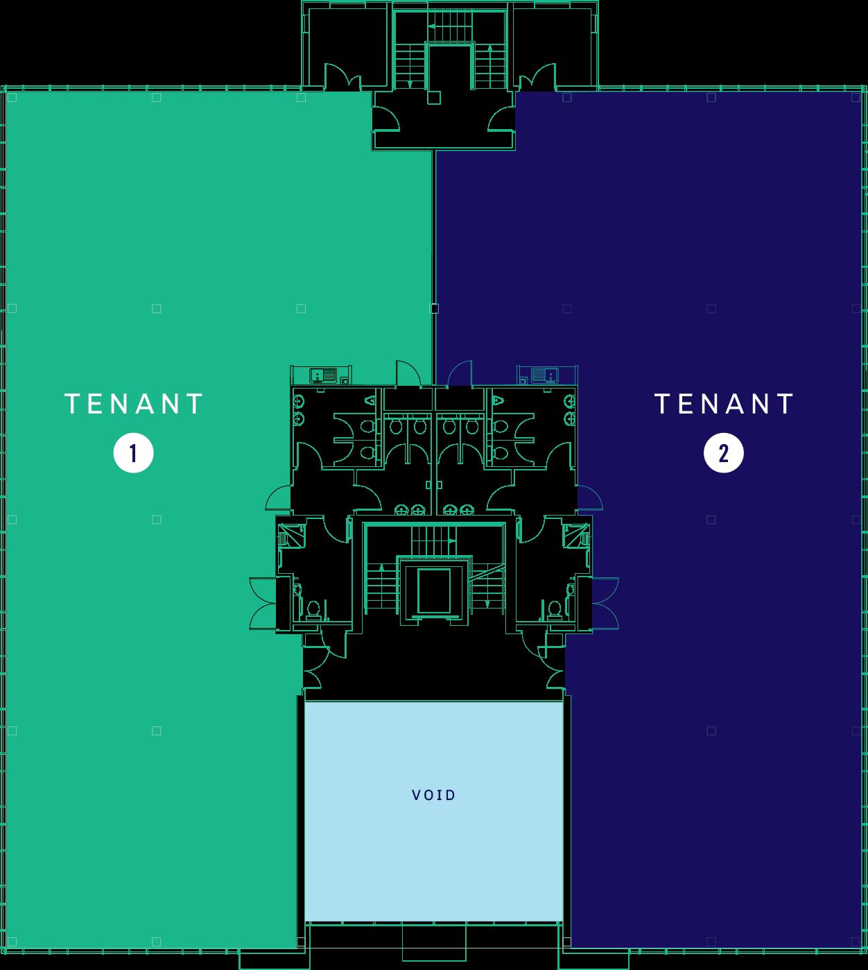 Floor Plate Singe Tenant Option 1