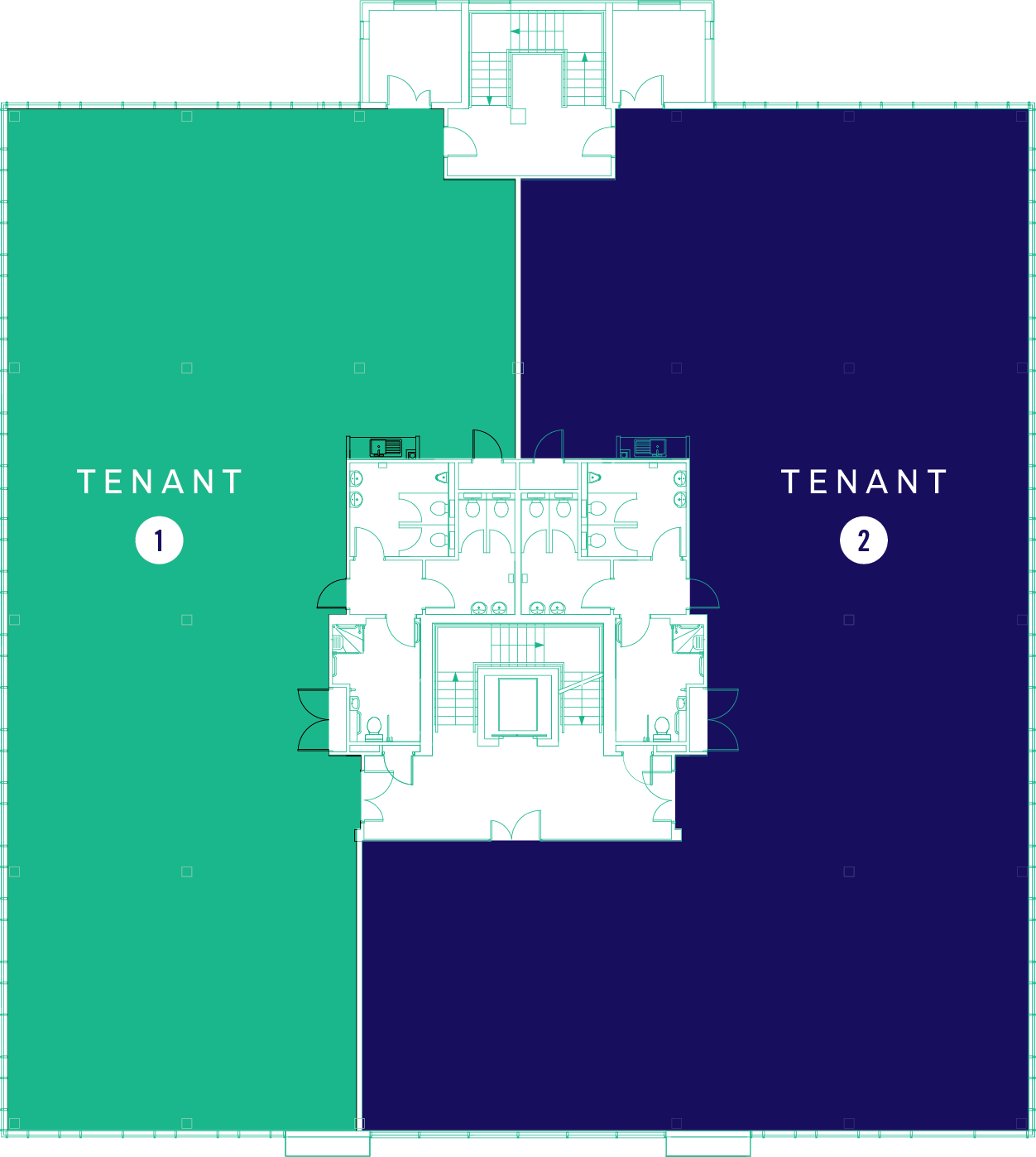 Floor Plate Singe Tenant Option 2